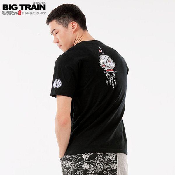 BigTrain加大武魂文字潮流圓領短袖-男-黑-2L.3L