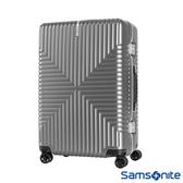 Samsonite新秀麗 28吋Intersect 高質感PC鋁框硬殼TSA行李箱(銀)
