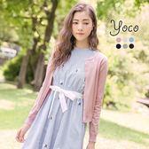 東京著衣【YOCO】花瓣甜心多色亮片針織小外套-S.M.L(170578)
