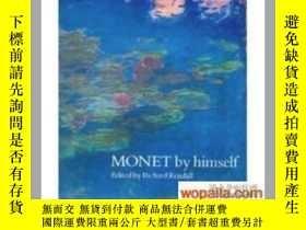 二手書博民逛書店Monet罕見by Himself 莫奈 精裝Y242812