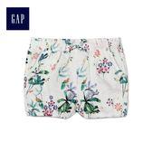 Gap女嬰幼童 印花舒適休閒短褲 461368-白色印花