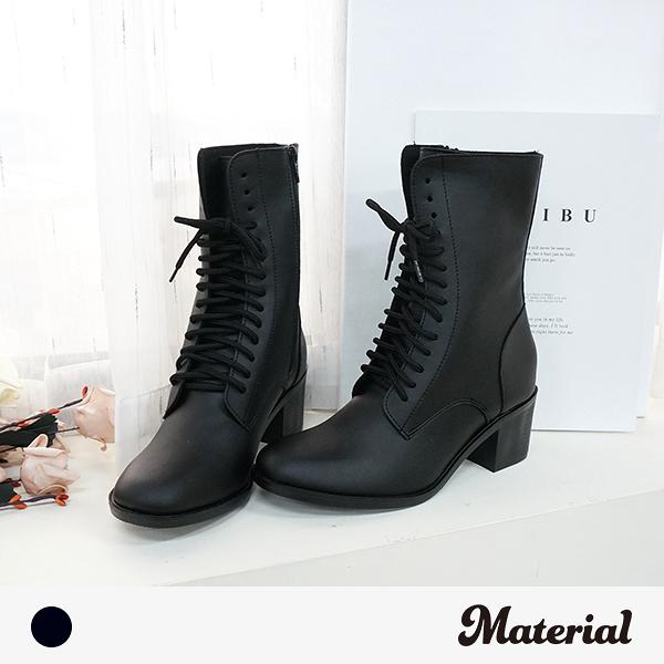 短靴 個性綁帶中跟短靴 MA女鞋 T9387