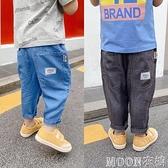 男童褲子 寶寶裝新款仿天絲牛仔褲薄款洋氣男童夏季休閒褲兒童長褲子 快速出貨