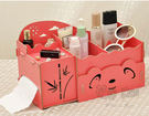 DIY創意組裝木質化妝收納盒A311【花...