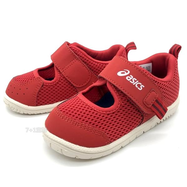 《7+1童鞋》小童 ASICS 亞瑟士 AMPHIBIAN BABY SR 2 速乾 透氣網布 機能涼鞋 5254 紅色