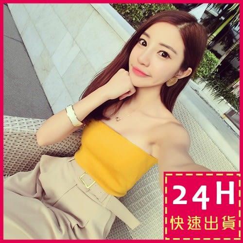 梨卡 - 正妹必備甜美短版無袖內搭防曝光小可愛背心上衣/3色B854