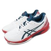 Asics 網球鞋 Solution Speed FF 2 男 白 藍 紅 速度型【ACS】 1041A182101