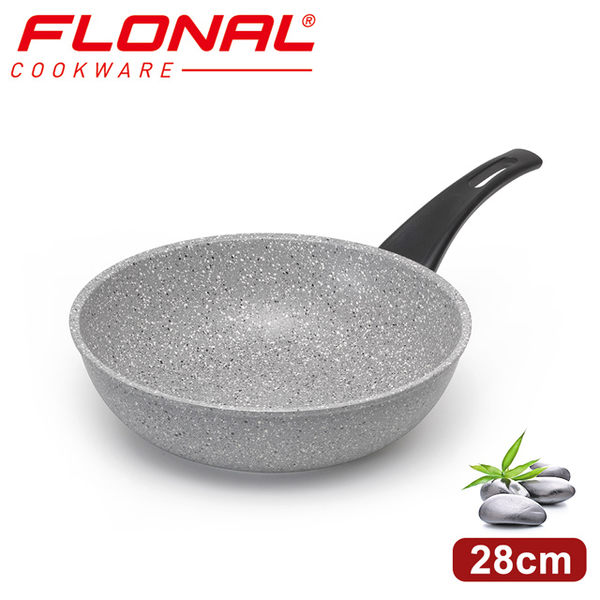 【義大利FLONAL】新石器不沾導磁炒鍋28cm