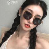 女潮太陽鏡韓版個性圓臉眼鏡復古圓形潮原宿墨鏡小臉        伊芙莎