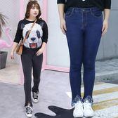 中大尺碼~氣質修身毛邊牛仔褲(XL~4XL)