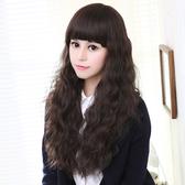 限定款假髮 韓系假髮 女齊瀏海玉米燙 長捲蓬鬆長捲髮女士 長髮修臉甜美可愛