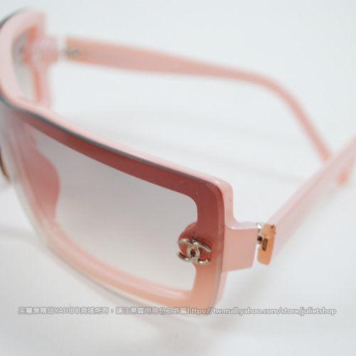 茱麗葉精品 二手精品【9.5成新】CHANEL 經典雙C LOGO漸層鑲邊復古太陽眼鏡