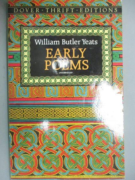 【書寶二手書T1/文學_HIF】Early Poems_Yeats, W. B.
