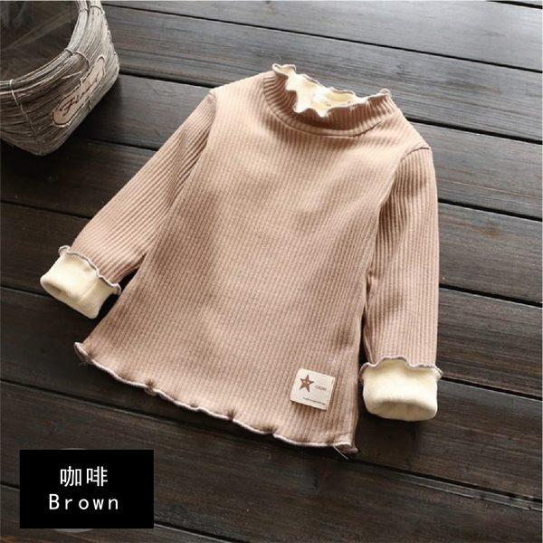 上衣 棉質 加厚款 內刷毛 舒適 彈性布料 素色 長袖上衣 七色 寶貝童衣