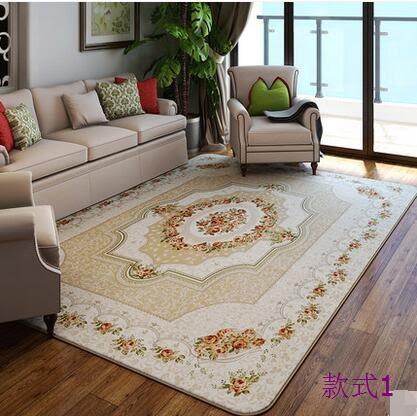 幸福居*珊瑚絨地毯客廳臥室 可機洗門廳歐式田園床邊茶幾簡約現代長方形(190*280CM)