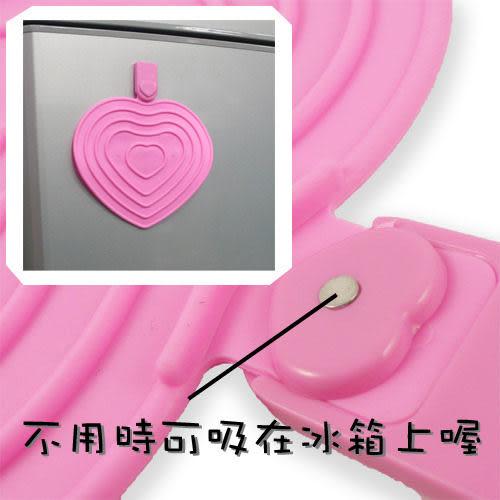 [AWANA]多功能磁石心型矽膠 隔熱墊1入