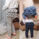 造型裙褲 彈力 荷葉滾邊 女童 褲子 褲裝 Augelute 70098