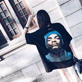 嘻哈-原宿潮牌中長款短袖T恤-韓先生