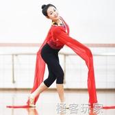 藏族兒童練習水袖上衣女成人舞蹈練功服甩袖古典舞驚鴻戲曲表演服 極客玩家
