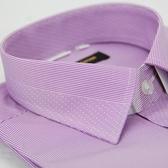 【金‧安德森】紫色變化領點點窄版長袖襯衫