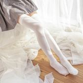 及膝襪 加長天鵝絨過膝襪女平鋪70cm長腿絲襪白絲cos長筒襪高筒襪過膝襪 莎瓦迪卡
