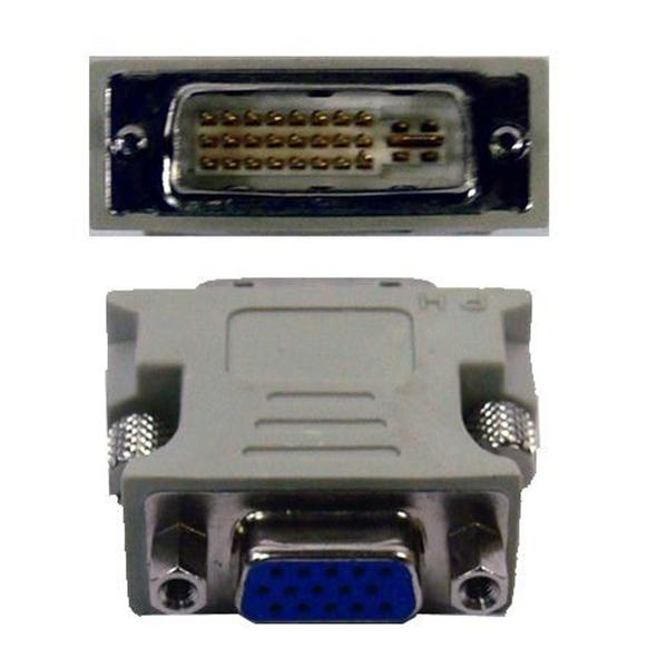 VGA 轉 DVI-I 轉接頭 24+5 轉換頭 螢幕轉換頭 轉換器 畫面 顯示 輸出 輸入 高清 D-SUB
