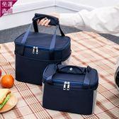 保溫袋飯盒袋午餐便當包保溫袋包帆布手拎媽咪包帶飯的手提袋鋁箔加厚