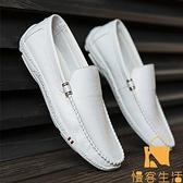 豆豆鞋男春季透氣懶人鞋休閒皮鞋韓版【慢客生活】