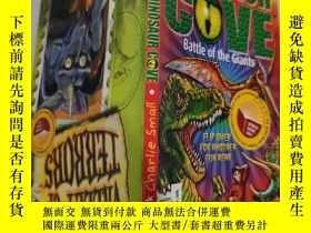 二手書博民逛書店dinosaur罕見cover battle of the giants 恐龍掩護巨人之戰..Y200392