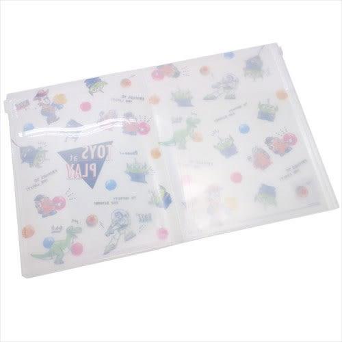 DISNEY 玩具總動員A4 6層檔案資料夾附夾鍊袋(手繪彩色球)★funbox★KAMIO_KM83989