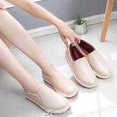 雨鞋女低筒短筒水鞋時尚加絨防滑防水靴膠鞋廚房工作韓國淺口套鞋 樂芙美鞋