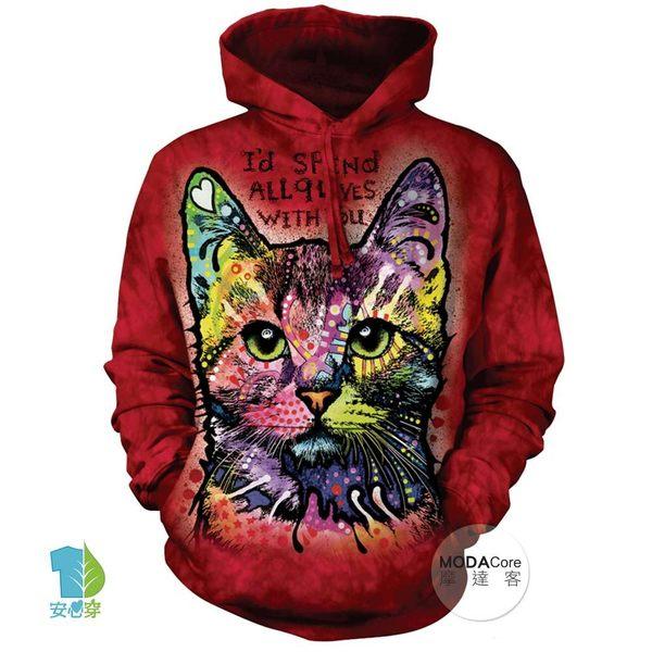 美國九命小紅貓連帽T恤