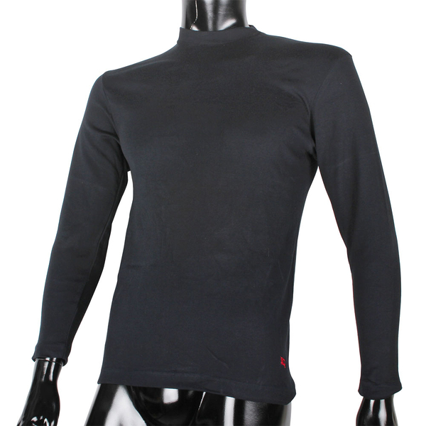 BURBERRY紳士透氣排汗棉質長袖上衣(黑色)085205