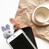iPhone手機殼 韓國秋冬暖色兔子 絨布軟殼 蘋果iPhone8X/iPhone7/6Plus