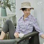 ADISI 女N66 四面彈透氣速乾長袖格紋襯衫AL2011106 (S-2XL) / 城市綠洲 (四向彈性、防曬、速乾)
