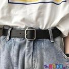 皮帶 韓國年新款皮帶正方形啞光銀色實心扣頭黑腰帶風寬女士潮 寶貝計畫 618狂歡