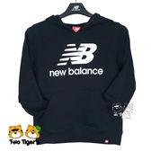 New Balance NB童裝 秋冬 黑色 LOGO 帽T 長袖 上衣 童裝 NO.H2596