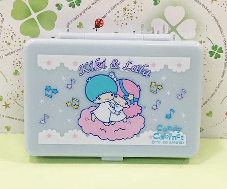 【震撼精品百貨】Little Twin Stars KiKi&LaLa 雙子星小天使~Sanrio收納盒附鏡-音符#82276