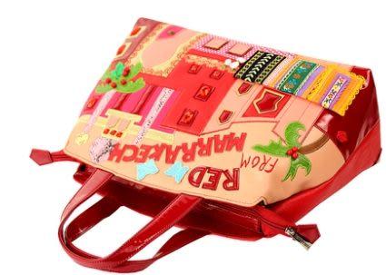 神秘馬拉喀什古都新款時尚工藝單肩個性女包潮包包-totty0059