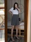 西裝短褲女夏寬鬆高腰a字休閒褲垂感顯瘦闊腿五分褲直筒港味中褲 果果輕時尚