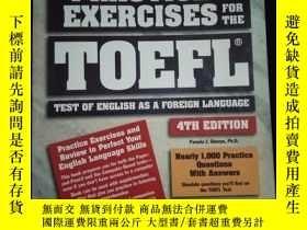 二手書博民逛書店PRACTICE罕見EXERCISES FOR THE TOEFL TESTY16149