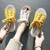涼拖鞋女外穿夏新款時尚休閒學生網紅懶人半拖魚嘴拖鞋ins潮  英賽爾3c