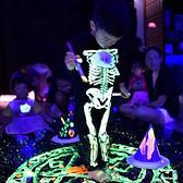 萬聖節服裝 夜光骷髅頭 骨頭人 連帽連身衣 造型服  橘魔法 萬聖節 現貨 男童 女童 角色扮演