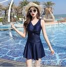 泳衣女2020年新款溫泉泡澡服遮肚顯瘦韓國ins保守仙女范小胸聚攏 蘿莉新品