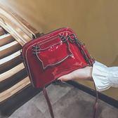 手提包超火貝殼小包包可愛少女手提百搭側背斜背女包潮 貝兒鞋櫃