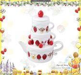 (現貨&樂園實拍) 東京迪士尼 x Afternoon tea 聯名限定 小熊維尼家族 草莓蛋糕版 茶杯茶壺套組