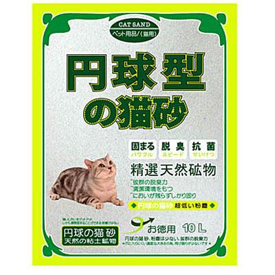 【培菓幸福寵物專營店】日本丹球型貓砂◎無香味圓球型5L(粗砂)凝結力強 貓友推薦