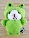 【震撼精品百貨】日本精品百貨-磁鐵娃娃-變臉系列-熊變青蛙-綠