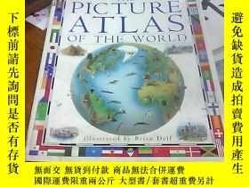 二手書博民逛書店THE罕見PICTURE ATLAS OF THE WORLD圖