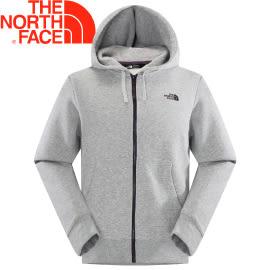 【The North Face 男 LOGO 兜帽外套 灰白】A8KY/連帽外套★滿額送